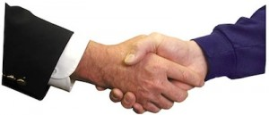 Photo of a handshake