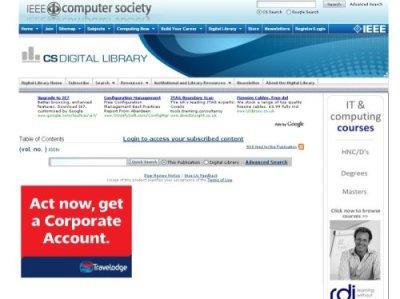 IEEE login screen