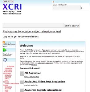XCRI Aggregator Demo
