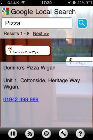 Screenshot of Argon AR Browser