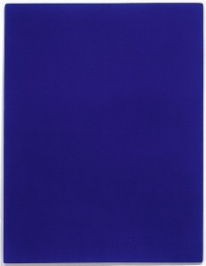 Monochrome bleu sans titre [Untitled blue monochrome], 1960