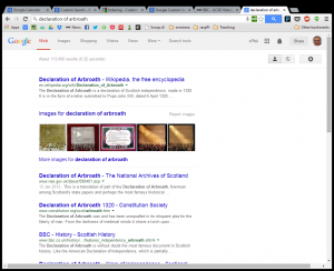 Google search for declaration of Arborath