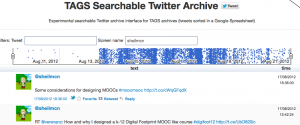 #moocmooc searchable twitter arcive