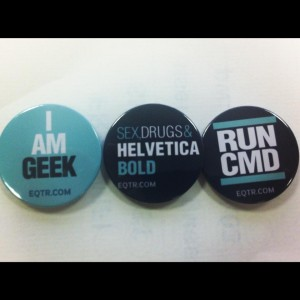 social media geek badges