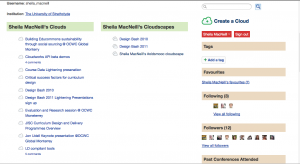 My Cloudworks profile page