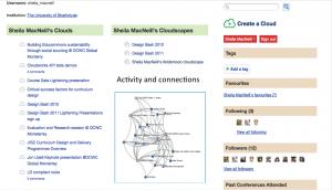 Potential Cloudworks Profile page