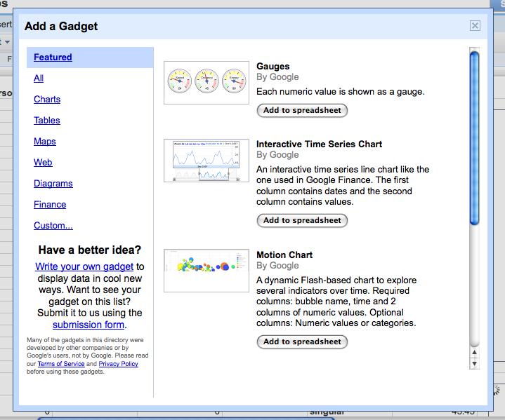 Google widget